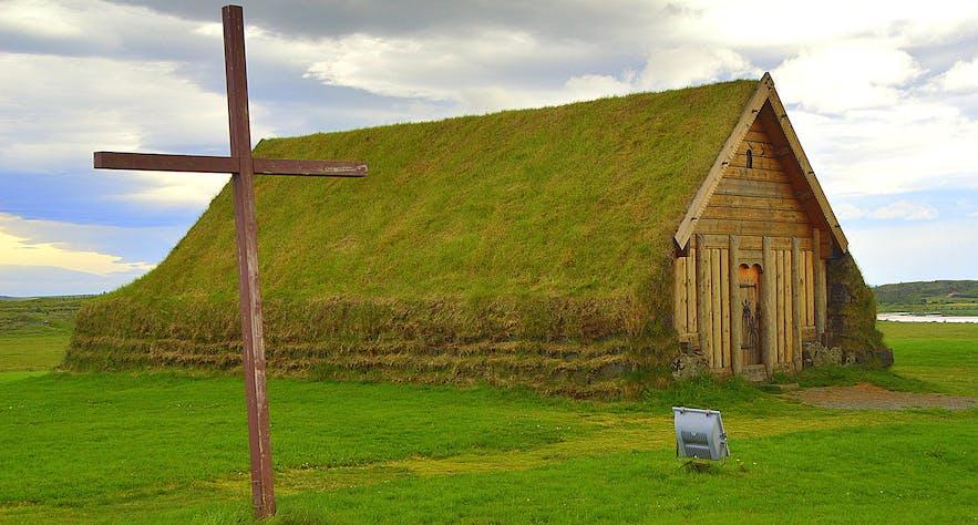 Þorláksbúð hypothesis house in Skálholt, Southwest Iceland