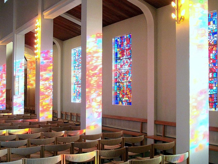 Inside Skálholtskirkja church