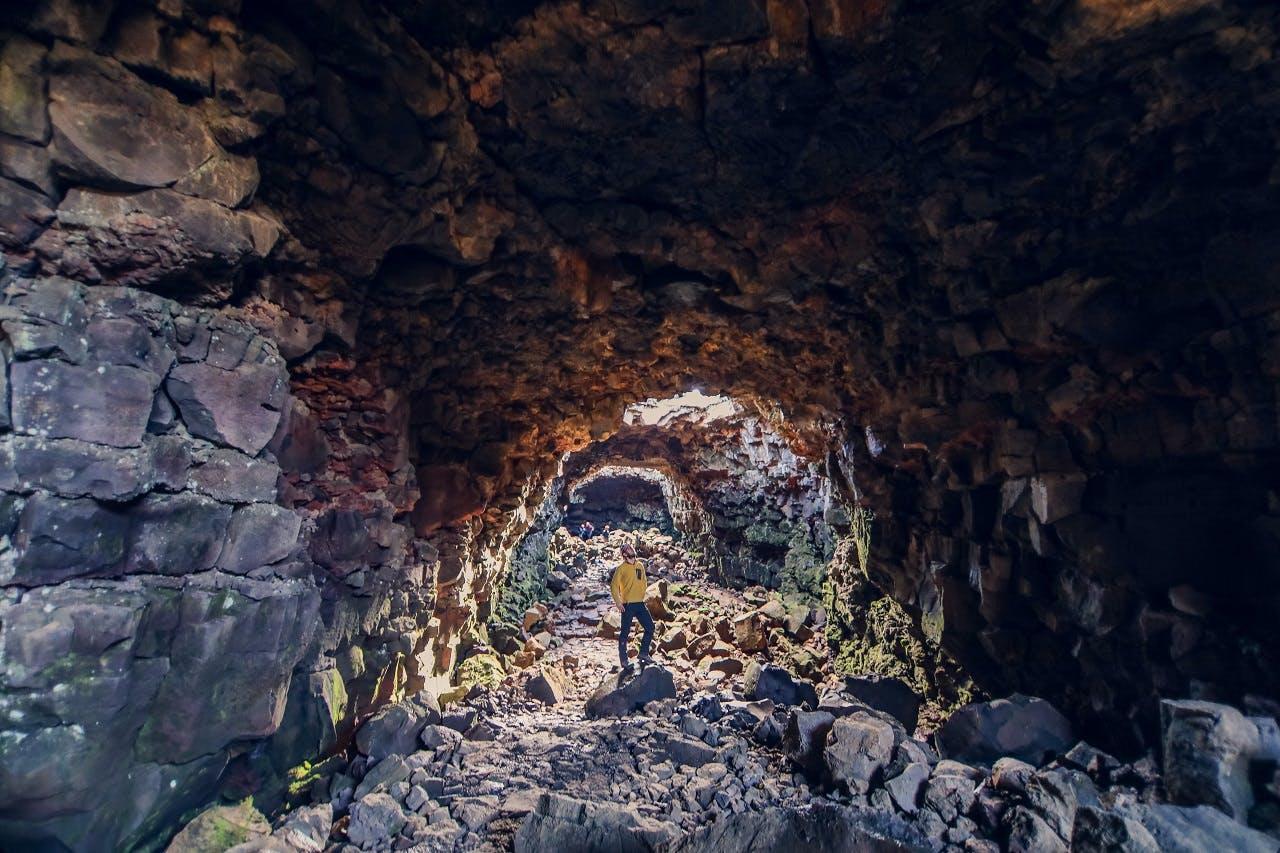 The Lava Tunnel   Raufarholshellir Caving Tour