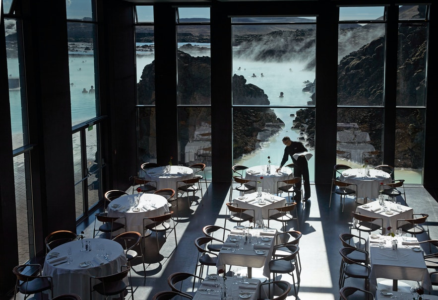 Lava restaurant at the Blue Lagoon in Iceland