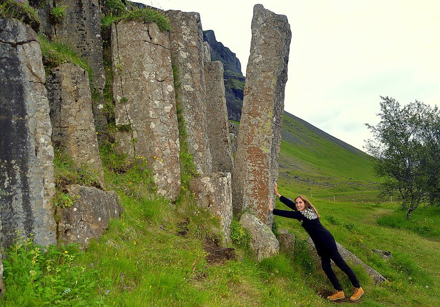 Extraordinary Columnar Basalt and Waterfalls in South-Iceland - Foss á Síðu & Dverghamrar