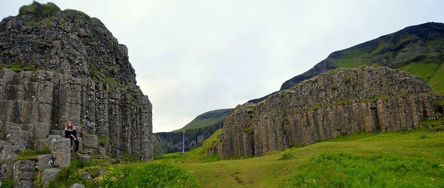 Dverghamrar also known as Dwarf Rocks in South Iceland