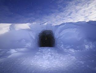 A l'intérieur d'un glacier   Tunnel de glace au glacier Langjökull