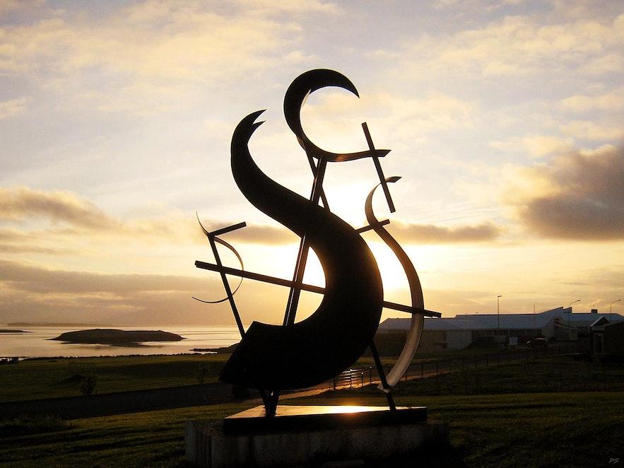 冰島赫本雕塑