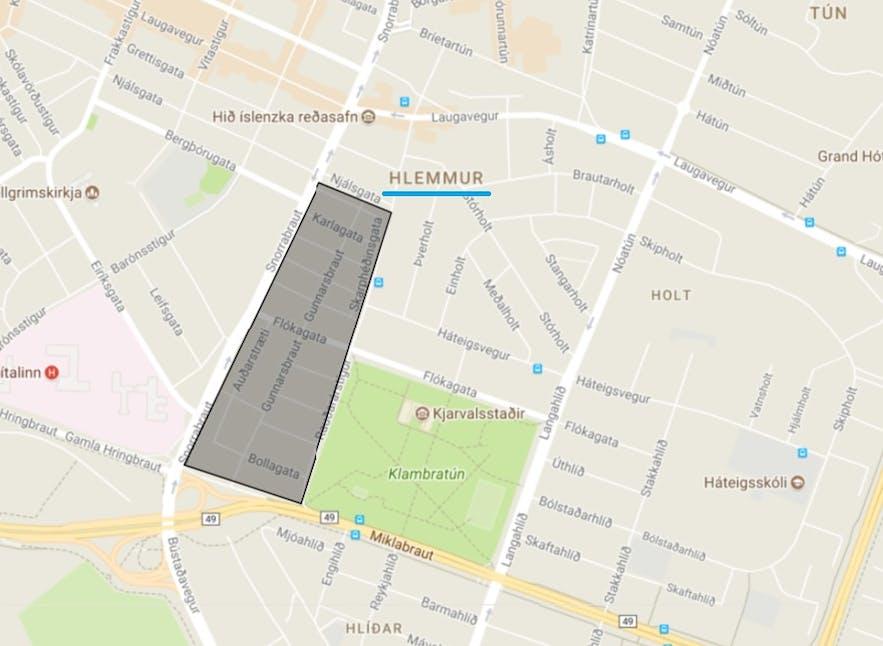 Na mapie zobaczysz, gdzie wcześniej znajdowały się stare moczary.