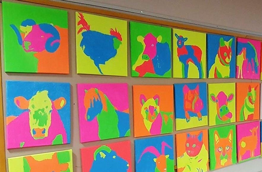 어린이 문화 페스티벌의 예술작품 전시