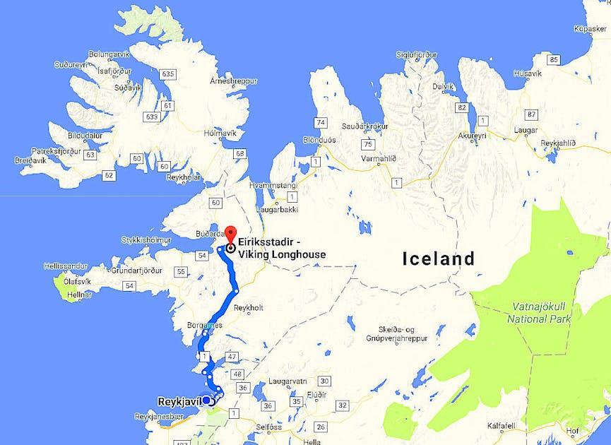 Viking Areas In Iceland Eiriksstadir Long House In West Iceland