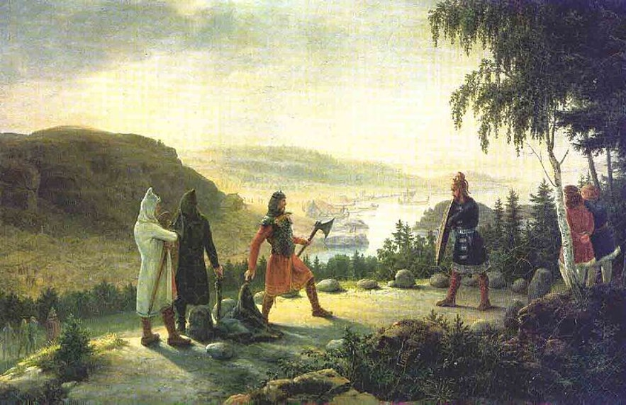 Artist Johannes Flintoe's depiction of a segment in Egils Saga