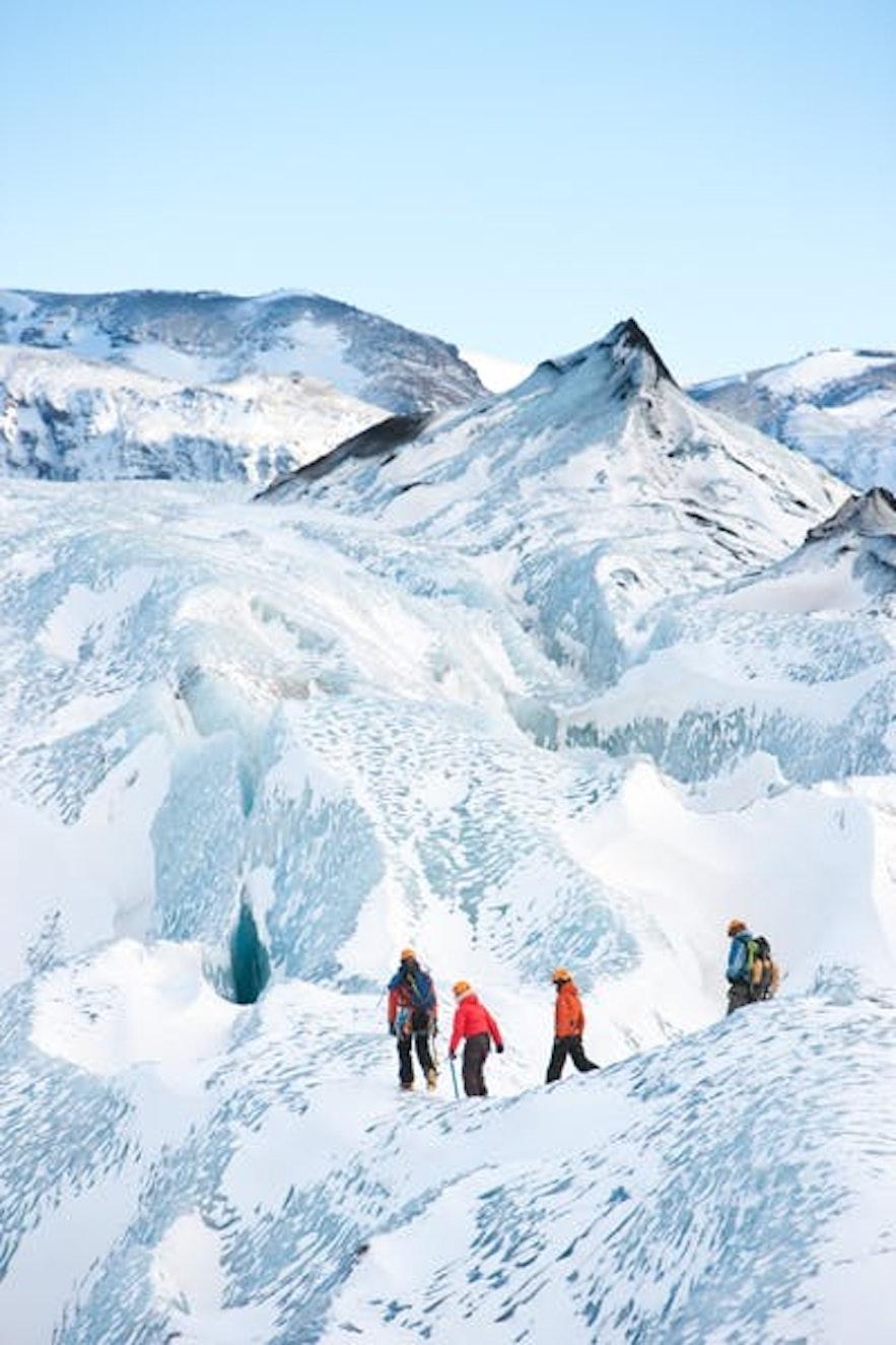 冰島瓦特納冰川健行
