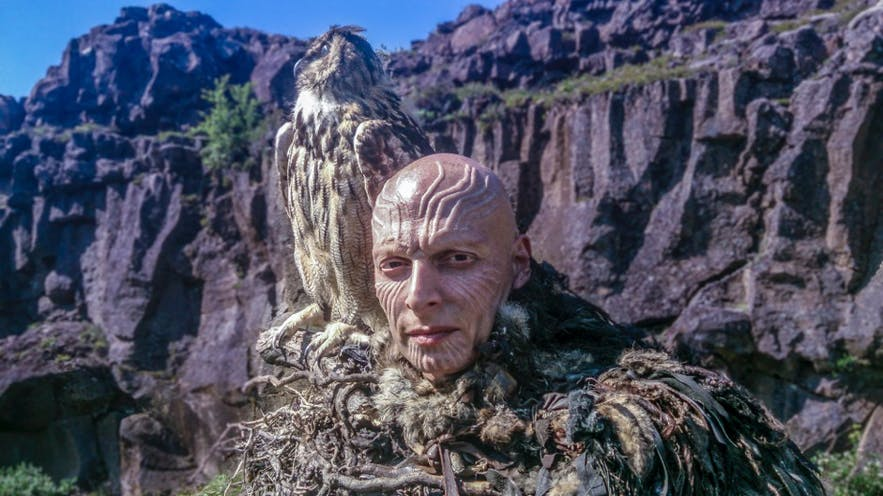 Joseph Gatt on the Game of Thrones set, shot at Thingvellir National park.