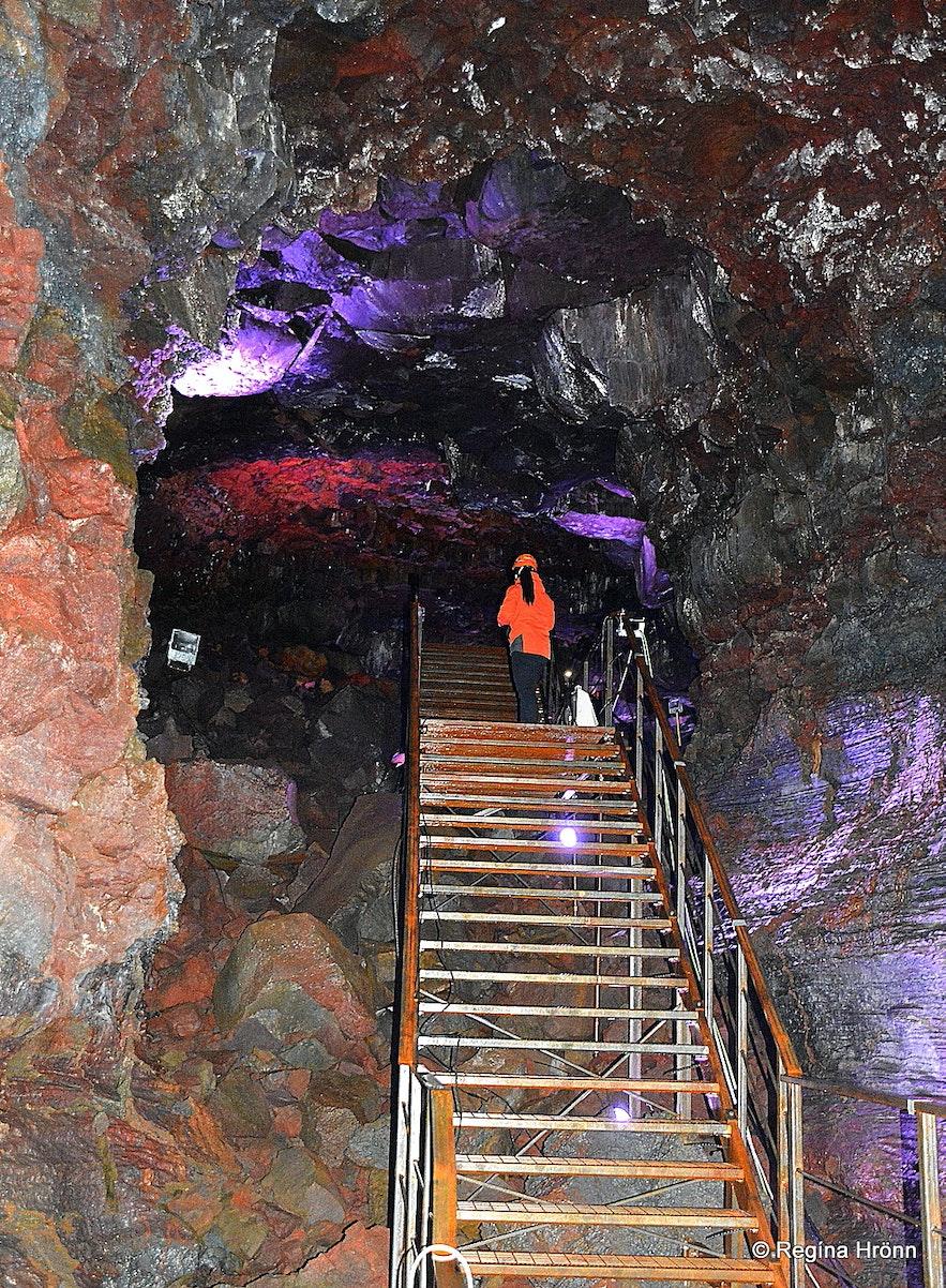 Raufarhólshellir lava cave South-Iceland