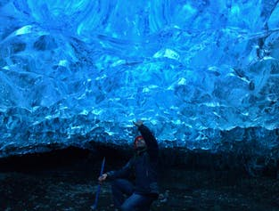 Tour a la cueva de hielo en el glaciar Breiðamerkurjökull