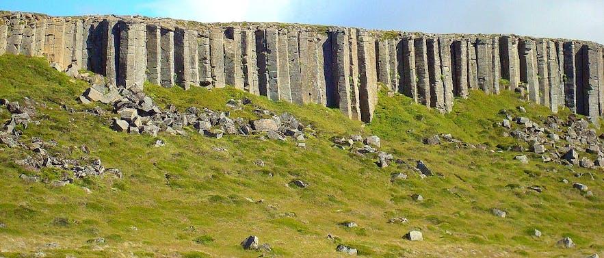 The bizarre and beautiful Gerðuberg columns