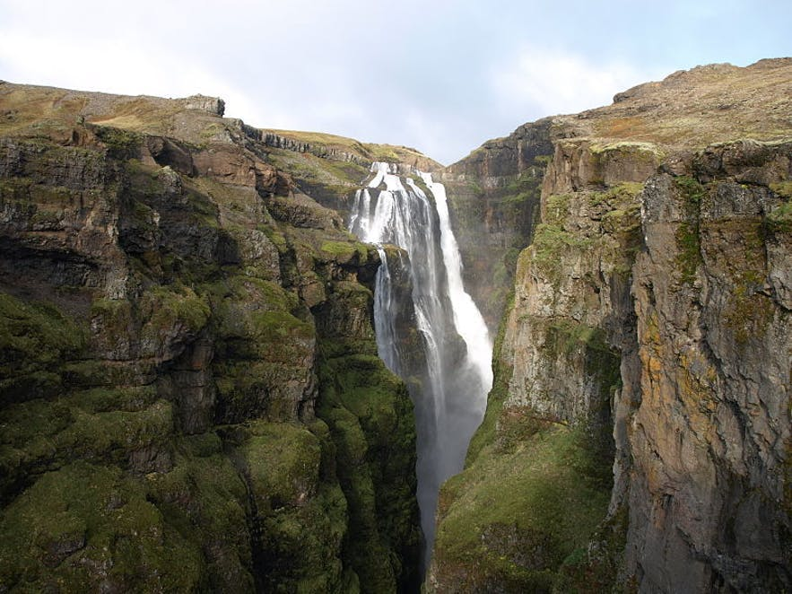 Glymur in West Iceland was long thought to be the country's tallest waterfall. Credit: Wikimedia, Creative Commons, Jabbi