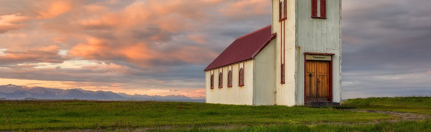 A typical church on Snæfellsnes