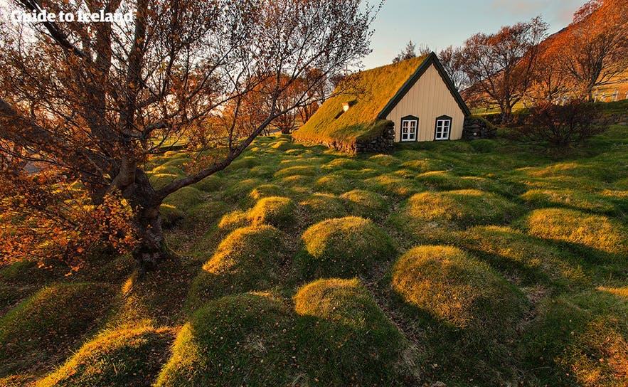 冰岛南岸传统草屋