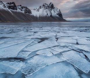 Tour de 7 días en invierno con guía | Rodea la mitad de Islandia y vuela de vuelta a Reykjavík