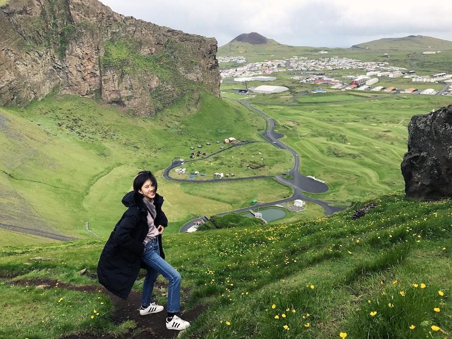 西人島徒步Herjólfsdalur 山