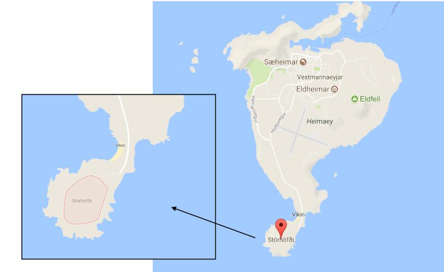 冰島西人島Westman island Storhofdi海岬