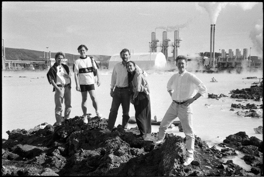 Blå lagunen 1989 strax efter att den öppnades