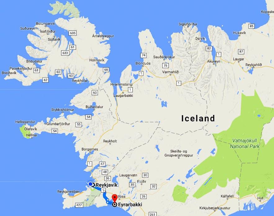 The lovely little Village Eyrarbakki on the South Coast of Iceland & Húsið - the House