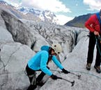 A certified glacier guide will show you the ropes before you embark on an ice climbing tour