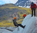 Ice climbing is a fun activity available from Skaftafell Nature Reserve