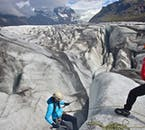 You'll learn how to scale a wall on an ice climbing tour from Skaftafell Nature Reserve