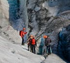 You'll see deep, blue crevasses on a glacier hiking tour from Skaftafell Nature Reserve
