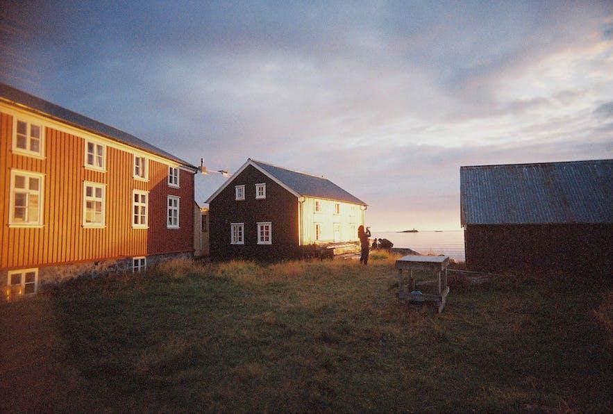 在Flatey小岛看日落