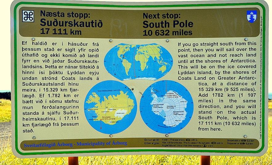An information sign in Eyrarbakki