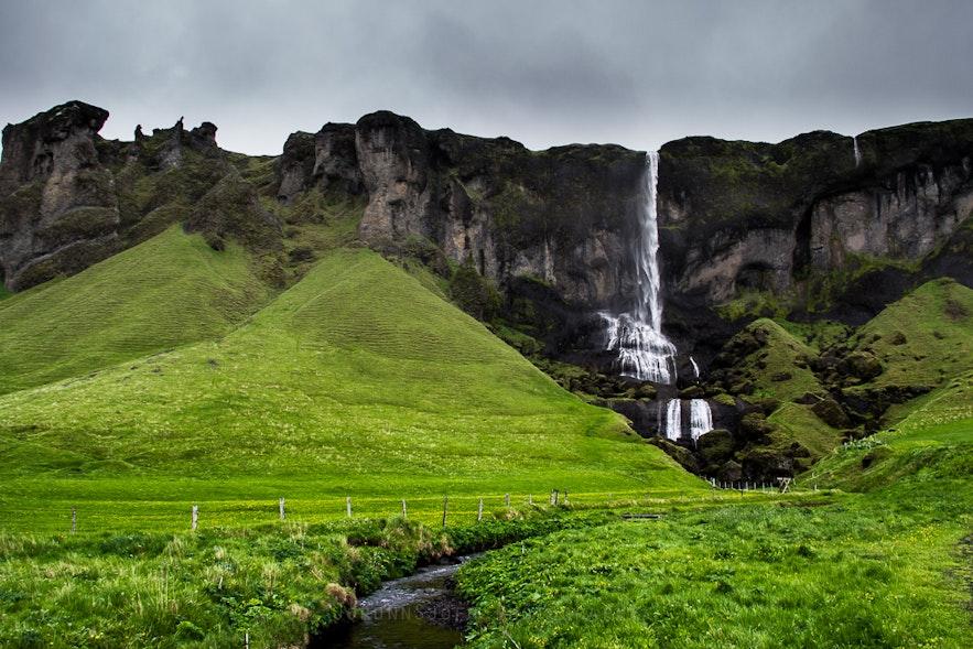 冰島南部 Foss a sidu 絲雨瀑布