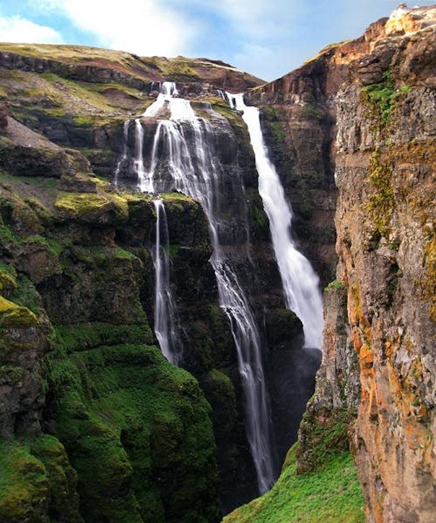 冰島Glymur 瀑布