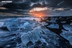 钻石冰沙滩