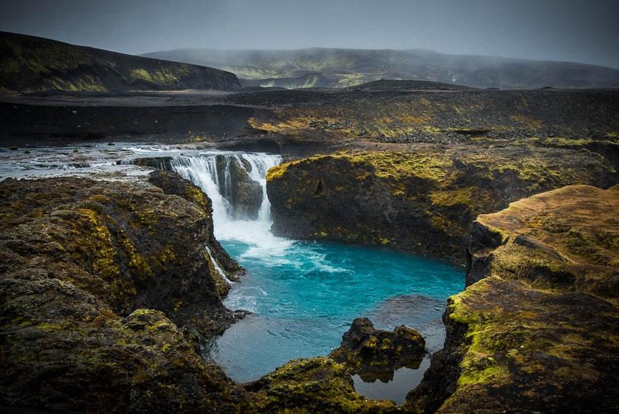 冰島小眾瀑布 Hrauneyjafoss 哈尼爾瀑布