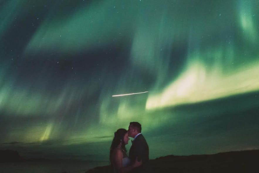 Northern Lights and Meteor wedding in Iceland!