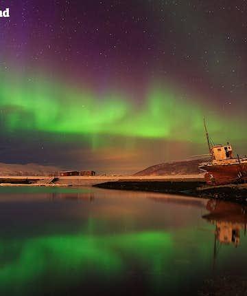 冰島北極光專業攝影作品