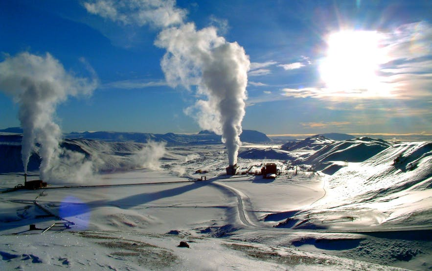 Krafla Geothermal Plant, in the northeast of Iceland.