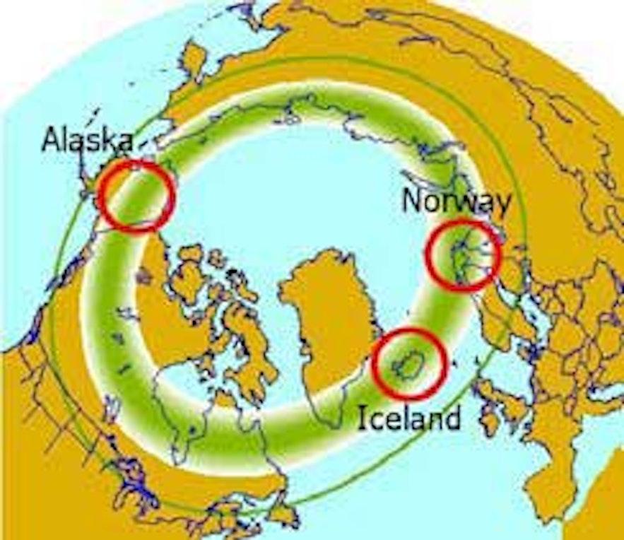 冰島全島都位於極光帶之上