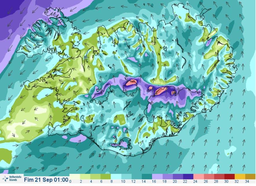 冰島天文台風向預測