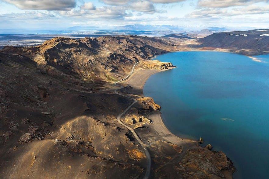 Kleifarvatn火山湖