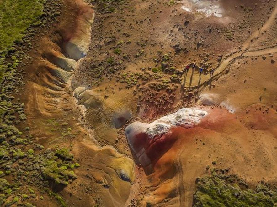 Obszar geotermalny na Islandii