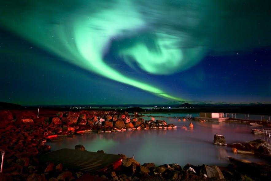 아이슬란드 북부의 미바튼 네이처 배스