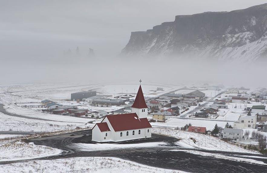冰島冬季維克鎮VIk