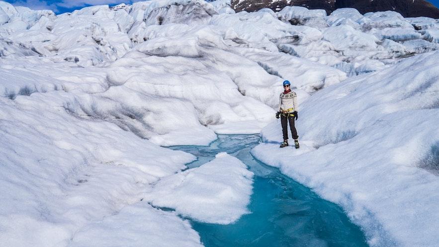 Glacier Hikers on Vatnajökull