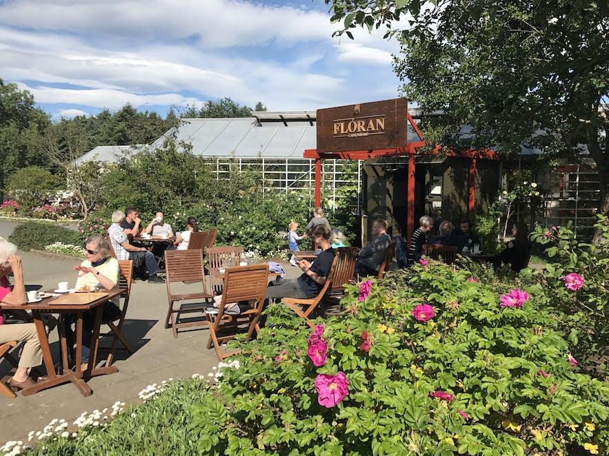 Das Café Floran in Laugardalur