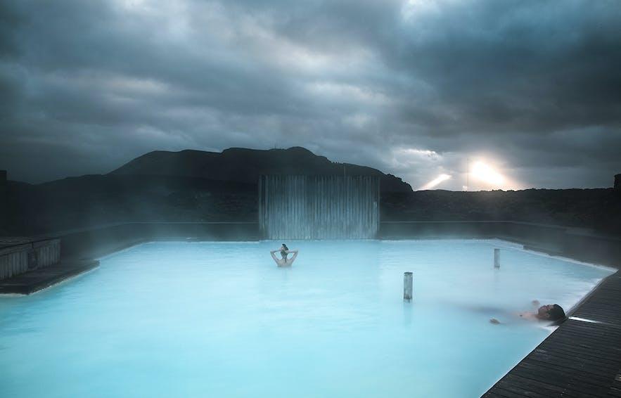 Silica Lagoon, eine private Lagune des Silica Hotels bei der Blauen Lagune