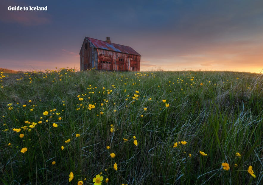 An abandoned farm house on the Reykjanes Peninsula