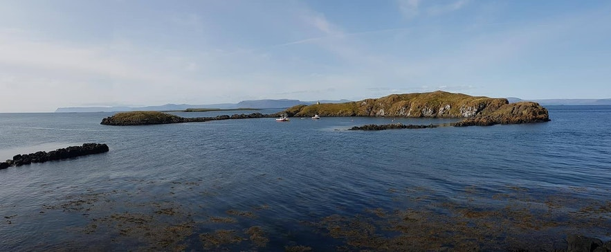 An uninhabited island a short distance from Flatey