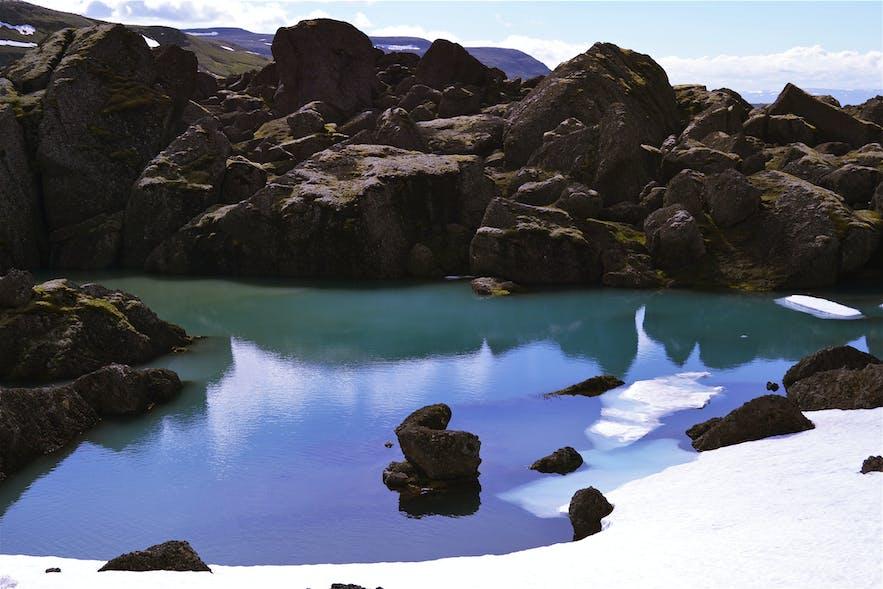 "Stórurð (""The Giant Boulders"") is a hikers paradise."